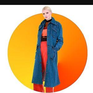 Vintage 1970s denim trench jacket size medium